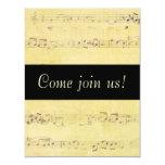 Invitaciones de las notas musicales de la anuncios personalizados