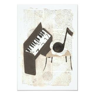 """Invitaciones de las notas musicales invitación 3.5"""" x 5"""""""