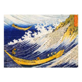 Invitaciones de las olas oceánicas de Hokusai Anuncio Personalizado