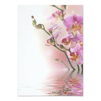 """Invitaciones de las orquídeas de la reflexión del invitación 5"""" x 7"""""""
