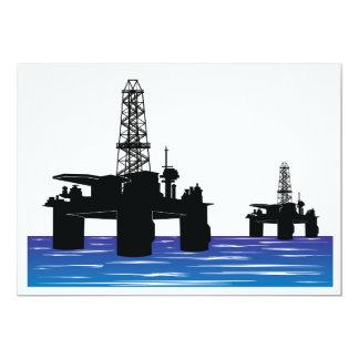"""Invitaciones de las plataformas petroleras invitación 5"""" x 7"""""""