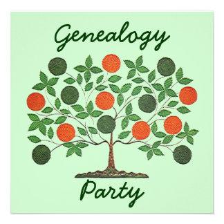 Invitaciones de las reuniones de la genealogía del invitacion personal