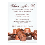Invitaciones de los chocolates invitación 11,4 x 15,8 cm