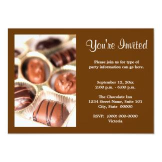 """Invitaciones de los chocolates invitación 4.5"""" x 6.25"""""""