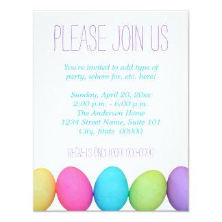 """Invitaciones de los huevos de Pascua Invitación 4.25"""" X 5.5"""""""