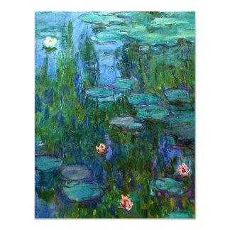 """Invitaciones de los lirios de agua de Monet Invitación 4.25"""" X 5.5"""""""