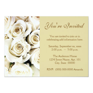 Invitaciones de los rosas blancos comunicados
