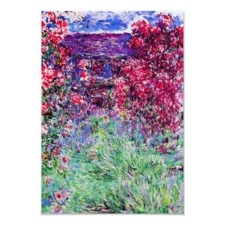 """Invitaciones de los rosas de Monet Invitación 3.5"""" X 5"""""""