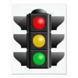 Invitaciones de los semáforos invitaciones personalizada