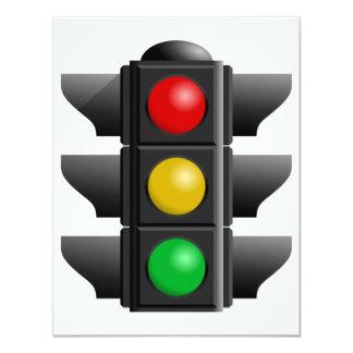 """Invitaciones de los semáforos invitación 4.25"""" x 5.5"""""""