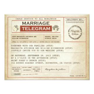 INVITACIONES de los telegramas del BODA del Invitación