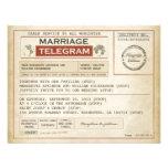 INVITACIONES de los telegramas del BODA del vintag Invitación