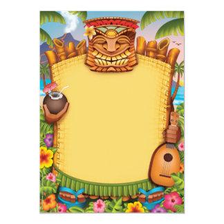"""Invitaciones de Luau, invitaciones hawaianas del Invitación 5"""" X 7"""""""