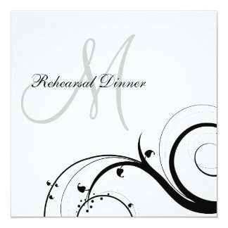 Invitaciones de lujo de la cena del ensayo del anuncios