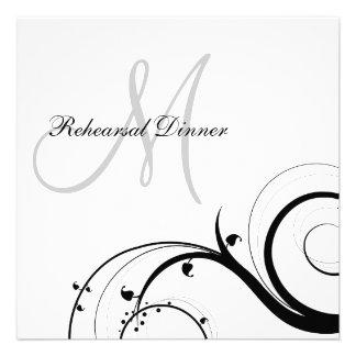 Invitaciones de lujo de la cena del ensayo del mon anuncios
