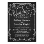 Invitaciones de lujo del boda de la pizarra invitación 11,4 x 15,8 cm