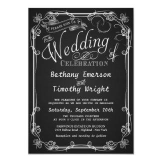 """Invitaciones de lujo del boda de la pizarra invitación 4.5"""" x 6.25"""""""