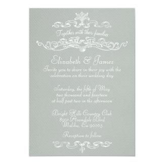 """Invitaciones de lujo simples del boda invitación 5"""" x 7"""""""