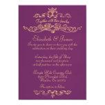 Invitaciones de lujo simples del boda de la comunicados