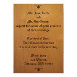 Invitaciones de madera del boda invitación 11,4 x 15,8 cm