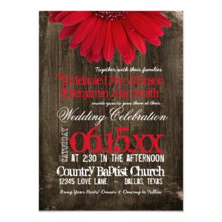 Invitaciones de madera del boda de la margarita anuncios