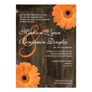 Invitaciones de madera del boda de la margarita an invitaciones personales