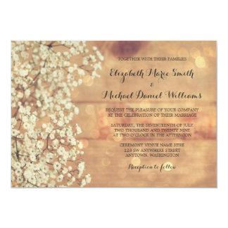 """Invitaciones de madera del boda de la respiración invitación 5"""" x 7"""""""