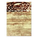 Invitaciones de madera del boda del caballo del invitación 11,4 x 15,8 cm