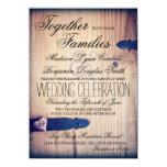 Invitaciones de madera del boda del cierre del comunicados