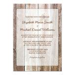 Invitaciones de madera del boda del granero invitación 12,7 x 17,8 cm