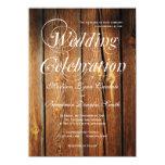 Invitaciones de madera del boda del granero anuncio