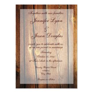 """Invitaciones de madera del boda del granero invitación 5.5"""" x 7.5"""""""