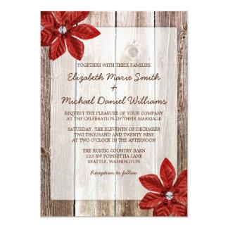 Invitaciones de madera del boda del granero comunicados personalizados