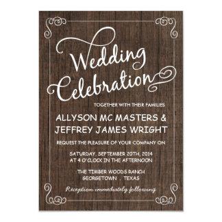 """Invitaciones de madera del boda del granero invitación 4.5"""" x 6.25"""""""