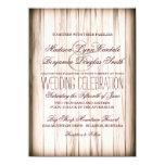 Invitaciones de madera del boda del granero comunicado