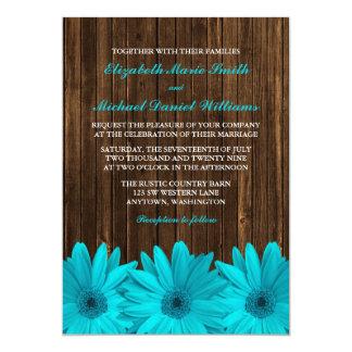 """Invitaciones de madera del boda del granero de la invitación 5"""" x 7"""""""