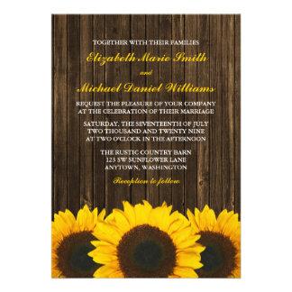 Invitaciones de madera del boda del granero de los