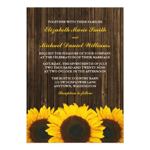 Invitaciones de madera del boda del granero de los comunicado personalizado