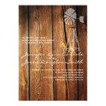 Invitaciones de madera del boda del granero del comunicados