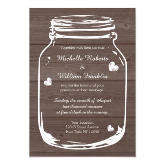 Invitaciones de madera del boda del granero del invitación 12,7 x 17,8 cm