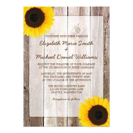 Invitaciones de madera del boda del granero rústic comunicados