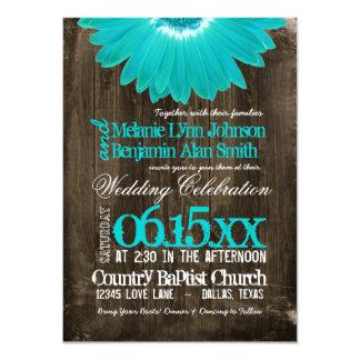 """Invitaciones de madera del boda del país de la invitación 4.5"""" x 6.25"""""""