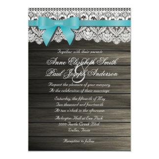 Invitaciones de madera del granero del arco del invitación 12,7 x 17,8 cm