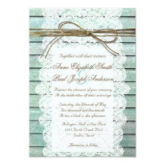 Invitaciones de madera del granero del trullo y invitación 12,7 x 17,8 cm