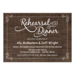 Invitaciones de madera rústicas de la cena del ens invitación personalizada