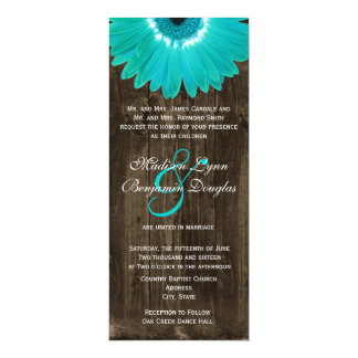 Invitaciones de madera rústicas del boda de la invitación 10,1 x 23,5 cm
