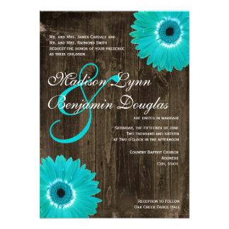 Invitaciones de madera rústicas del boda de la mar invitacion personal