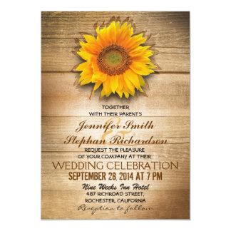 invitaciones de madera rústicas del boda del invitacion personalizada