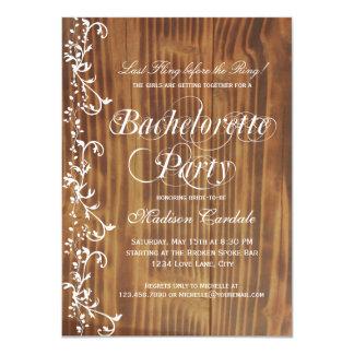 """Invitaciones de madera rústicas del fiesta de invitación 4.5"""" x 6.25"""""""