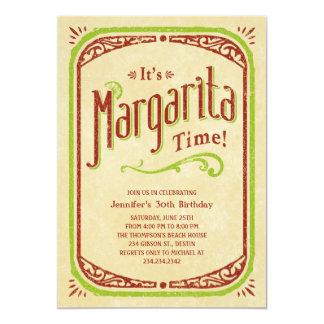 Invitaciones de Margarita - fiesta de la playa del Invitación 12,7 X 17,8 Cm